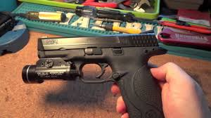 smith and wesson m p 9mm tactical light smith and wesson m p 9mm with graphite black cerakote polished
