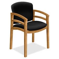 hon 2112 dble rail arms harvest wood guest chair black seat