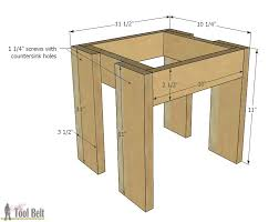 Free Plans To Build A Computer Desk by Simple Kid U0027s Table And Chair Set Her Tool Belt