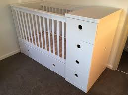 Mattress For Changing Table 3 In 1 Cot Bed Changing Table Chest Of Drawers Coconut