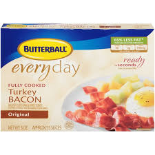 butterball cooked turkey butterball turkey every day original fully cooked bacon 3 oz