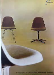 Herman Miller Padded Blue Vintage Chair Fiberglass Stuhle