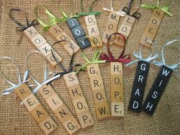scrabble tile christmas ornaments 3 00 via etsy but could