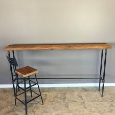42 inch wooden table legs reclaimed barn wood console table with pipe legs 42 height barn xo