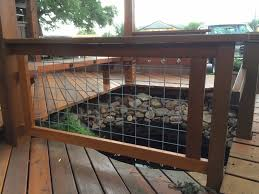 wire deck railing terace u2014 new decoration wire deck railing ideas