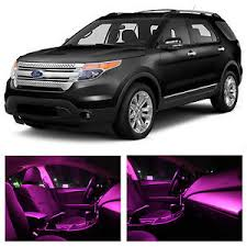 2015 ford explorer interior lights 13x pink premium led lights interior package kit for 2011 2015 ford