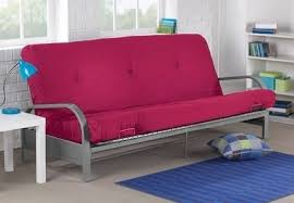 futon metal sofa bed brand new metal futon sofa bed couch with pink full size mattress