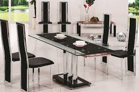 Table With 6 Chairs 20 Photos Black Glass Dining Tables 6 Chairs Dining Room Ideas