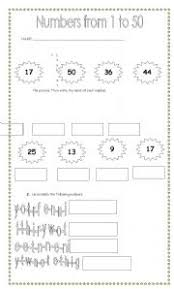 worksheet numbers from 1 to 50