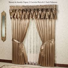 Tuscan Valance Crushed Voile Rod Pocket Panel Scarf Valance Sheer Curtains