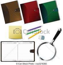 fournitures bureau en ligne fournitures bureau ensemble bureau sur fond clip