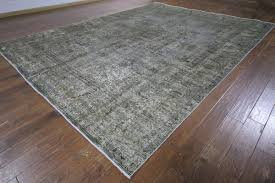 Area Rugs 10 X 14 by 10 U0027x14 U0027 Silver Wash Gray Overdyed Oriental Hand Knotted Wool Area