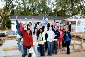 webster university students at fuller center for housing webster