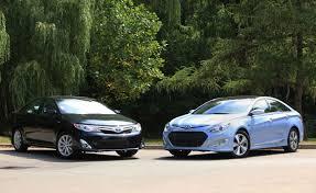 toyota camry hybrid vs hyundai sonata hybrid car reviews