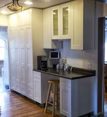 wood countertops kitchen cabinets to ceiling lighting flooring