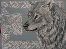 celtic wolf by moomoocahchoo on deviantart