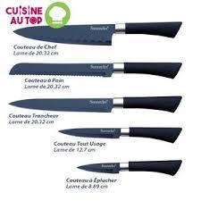 lot couteau de cuisine lot de 5 couteaux de cuisine sunnecko lame acier inoxydable