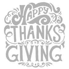 thanksgiving stencil happy thanksgiving 6 x 6 lead