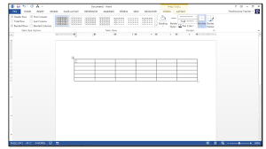 How To Use A Spreadsheet How To Insert Tables In Microsoft Word 2013 Teachucomp Inc