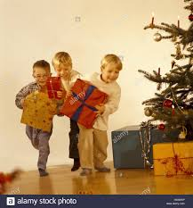 At Home Christmas Trees by Christmas Tree Children Presents Races Inside At Home