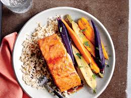 honey ginger glazed salmon recipe myrecipes