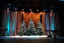 Christmas Light Balls For Trees by Flowy Night Sky Church Stage Design Ideas