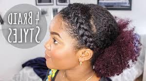 black natural hairstyles braids