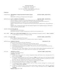 Curriculum Vitae Sample Format Doc by Resume Harvard Resume Template