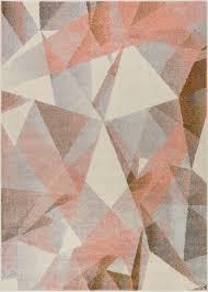 Modern Geometric Rugs Barra Dusty Pink Multi Color Modern Geometric Triangle Pattern