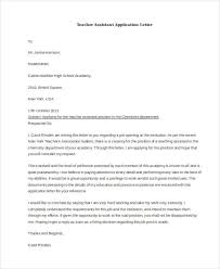 gallery of cover letter for teacher assistant job with no
