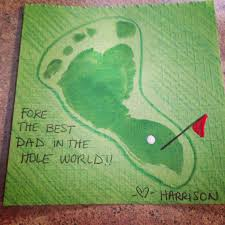 baby footprint golf artwork for fathers day fathers day ideas
