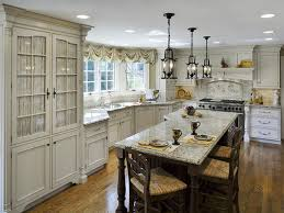 Victorian Kitchen Faucet Taupe Granite Countertop Light Brown Ogee Pattern Lacquered Wooden