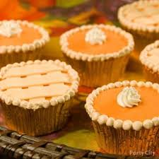 thanksgiving pumpkin pie cupcakes desserts