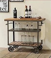 172 best bar carts images amazon com porter vintage bar cart brown see below kitchen dining