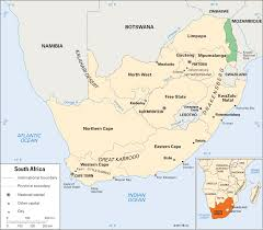 Physical Map Of South Africa by South Africa Land And Climate Students Britannica Kids