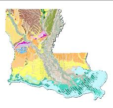 louisiana geographical map louisiana geology 1 500k