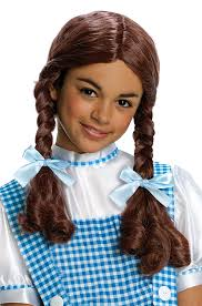 dorothy halloween costumes for kids amazon com wizard of oz dorothy wig child size toys u0026 games