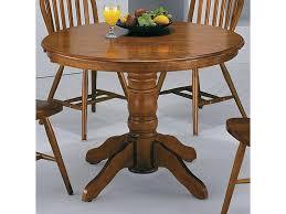 Dark Oak Wood Furniture Crown Mark Windsor Solid Dark Oak Round Pedestal Table Del Sol