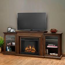 media console with glass doors real flame frederick entertainment 72 in media console electric