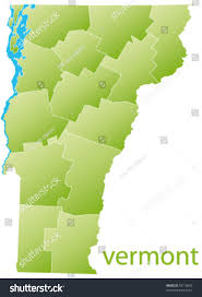 Map Of Vt Map Vermont State Usa Stock Vector 78116890 Shutterstock