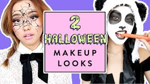 halloween makeup looks panda shattered doll youtube