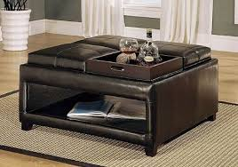 cushion top coffee table 36 top brown leather ottoman coffee tables brown storage ottoman