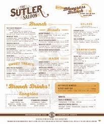 menu for brunch bluegrass brunch the sutler saloon saturday and sunday brunch