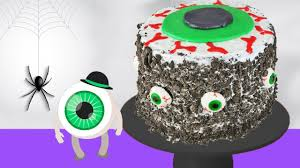 diy halloween eyeball cake decorating with frosting kids
