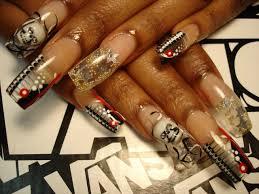 atlanta nail art best nail 2017 falcon toe nail design nails by