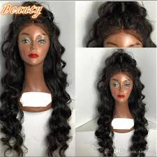 body wave hair with bangs virgin brazilian human hair full lace wigs with bangs long l wave