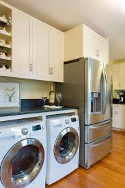 laundry in kitchen laundry kitchen functional space combination small design ideas
