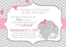 pink and grey elephant baby shower pink and gray elephant baby shower invitations designs agency