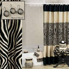 brown zebra shower curtain