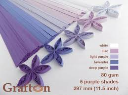 purple shades paper quilling strips set of 5 colors mix of 5